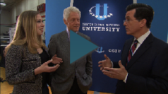Colbert and Clinton