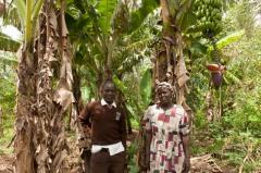 Debert with his mother, Grace Osimbo Wanjala