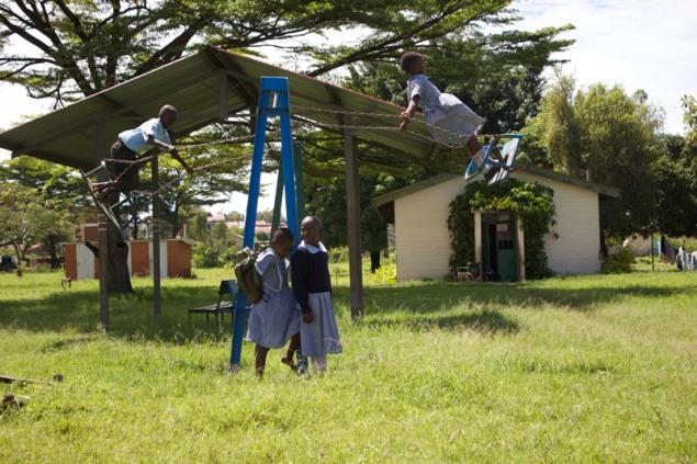 Pupils enjoying themselves at Joyland playground
